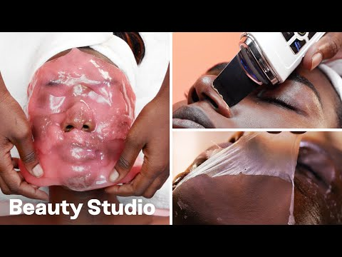 Top 3 Satisfying Facials! Dermaplaning, Cryotherapy And Plaster | Beauty Studio