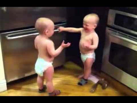 TWIN BABY talking with their own language!!