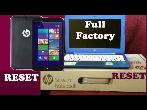 HP STREAM Factory Restore Windows RESET Laptop Or Tablet 11 13 14 11-d 11-p 11-r 13-C 7 8 G3 G4 X360