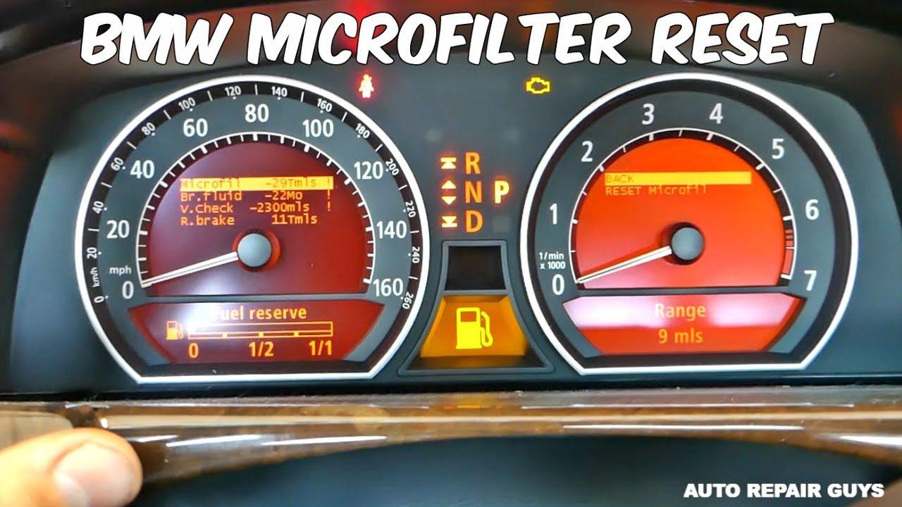 BMW E65 E66 MICROFILTER RESET CABIN AIR FILTER RESET 745i 745Li 750i 750Li  760Li 730i 735i