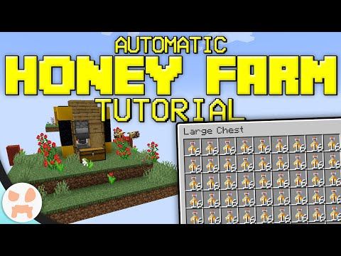 Automatic Honey Farm Tutorial! | Minecraft Bedrock & Java, Compact