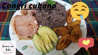 Congri cubano. #arroz moro. #delicioso