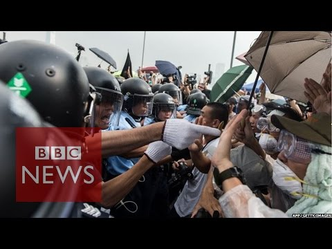 Hong Kong Protest: Tensions On The Front Line - BBC News
