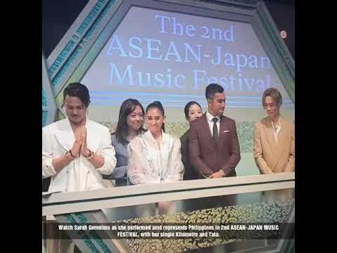 SARAH GERONIMO REPRESENT PHILIPPINES IN 2ND ASEAN-JAPAN MUSIC FESTIVAL