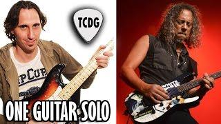 Como Tocar One En Guitarra Eléctrica (Metallica) Intro Solo Completo! Tutorial en español TCDG