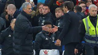 Mit Handschlag: Mourinho und Conte gehen aufeinander zu