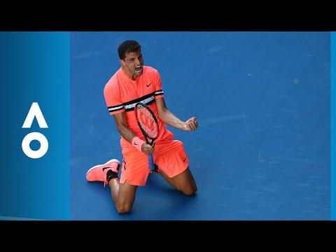 Grigor Dimitrov v Andrey Rublev match highlights (3R) | Australian Open 2018