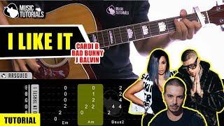 Cómo tocar I Like It de Cardi B, Bad Bunny, J Balvin en Guitarra | Tutorial + PDF GRATIS Video