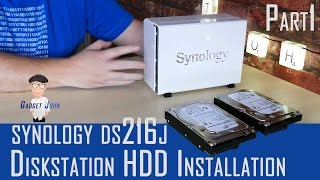 Synology Diskstation DS216J - HDD Installation & Initial Setup - Pt1