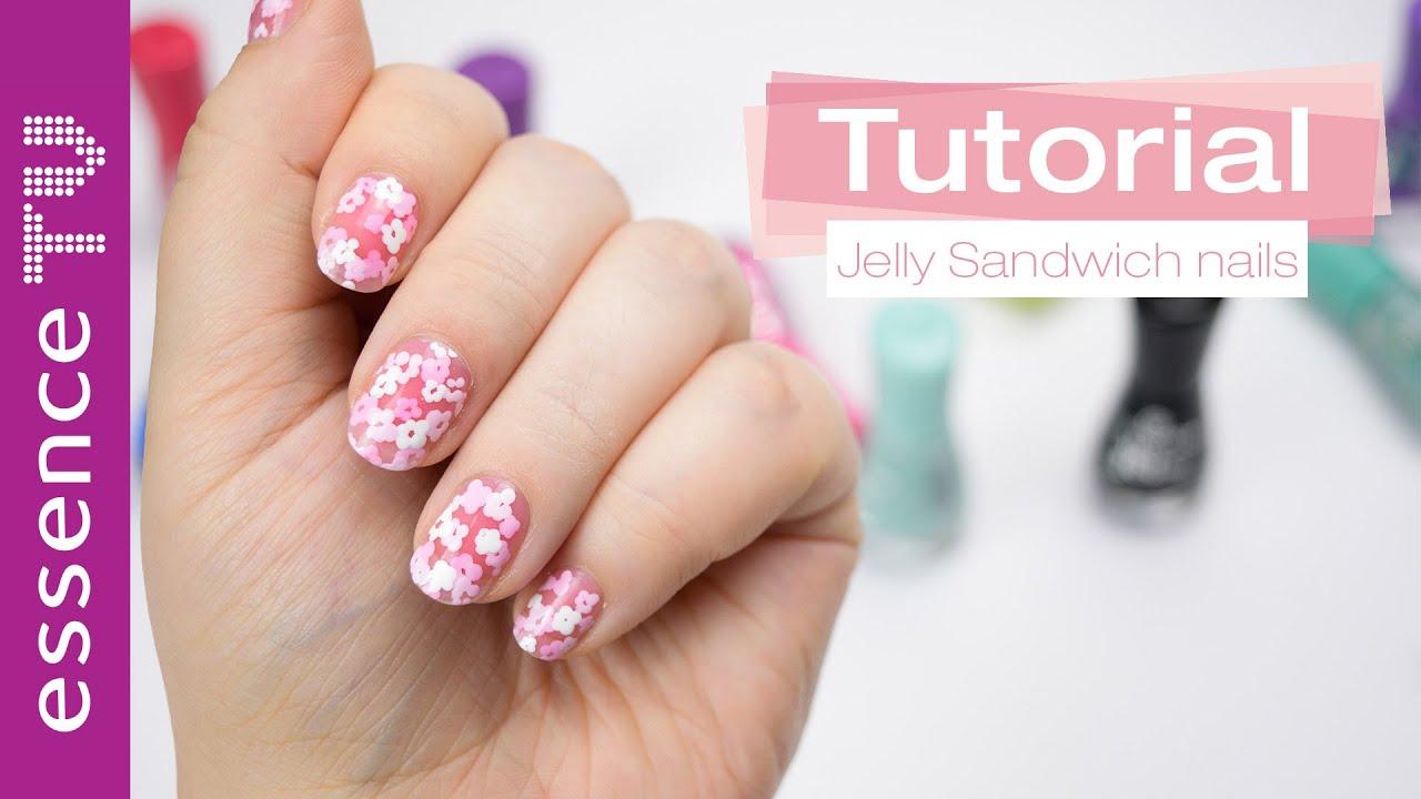 jelly sandwich / pond manicure nail tutorial - für kurze nägel ...