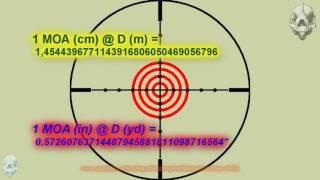Приціл пристрілка і деякі математичні - Ajuste де Lunetas, милий дот, МОУ - основи приціл