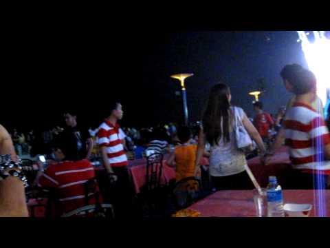 Philippines, Manila waterside fireworks