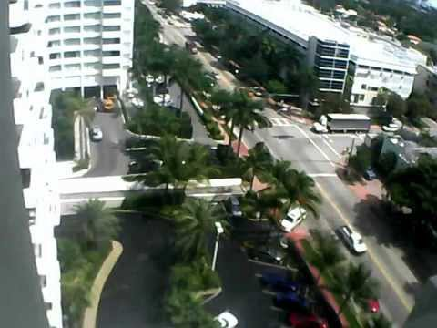 March 28, 2014 - Miami Beach Police watch illegally parked truck deliver to Mondrian South Beach.