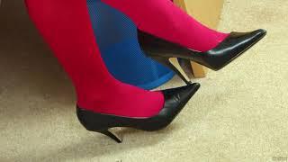 041 Legs In High Heels And Stockings Ноги на высоких каблуках и в чулках