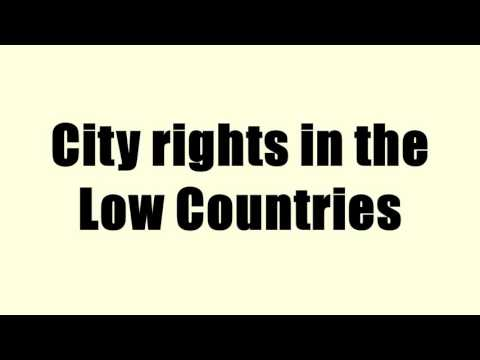 City rights in the Low Countries