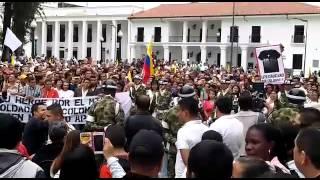 En Popayán protestan contra el presidente Juan Manuel Santos