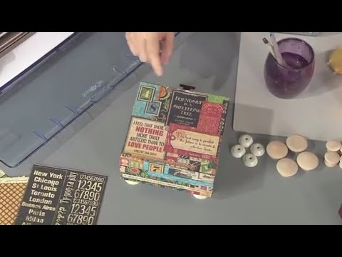 Collage with Graphic45 Paper to Decorate a Tea Box - Joe Rotella, Scrapbook Soup TV