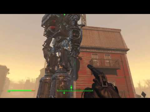 Fallout 4: Liberty Prime in action