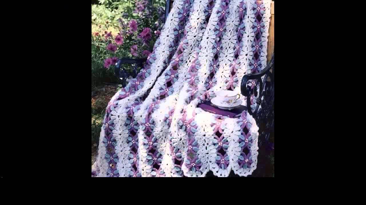free crochet afghan pattern - YouTube