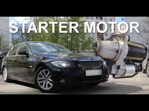 How to change BMW E90 3 series Starter Motor DIY replacement quick 2005 325i N52 e91 e92 e93 e9x