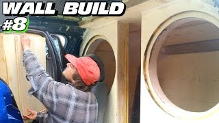 EXO's Subwoofer WALL Build #8 | Sanding Baffles FLUSH | Blacking Out Windows & Bracing Side Walls