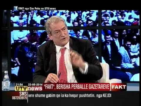 "SALI BERISHA NE EMISIONIN ""FAKT"" NE ""UTV NEWS"""