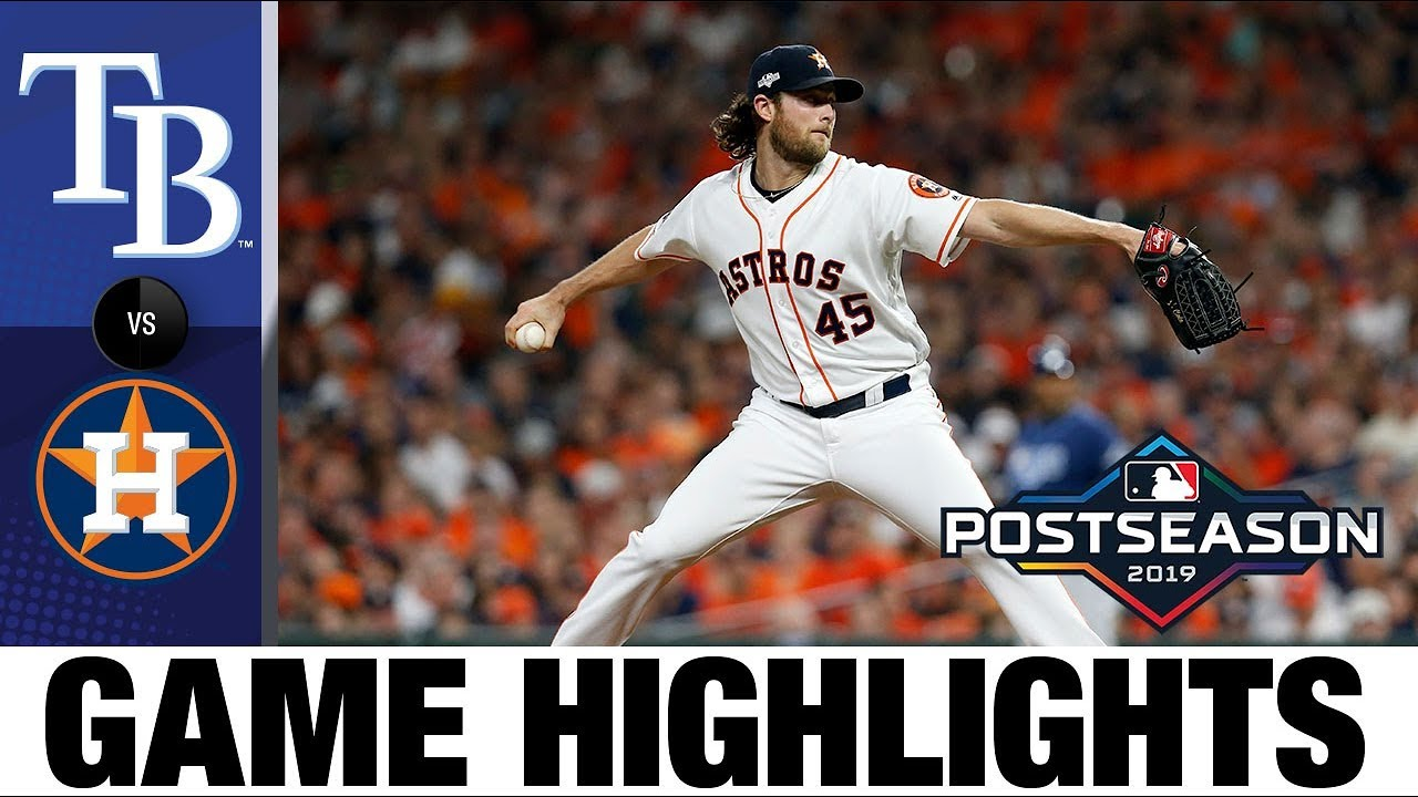 Astros Game >> Cole S 15 K Gem Fuels Astros Game 2 Win Rays Astros Game Highlights 10 5 19
