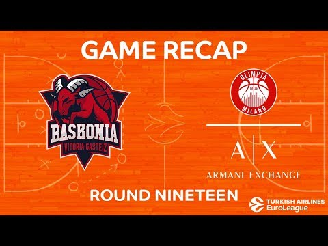 Highlights: Baskonia Vitoria Gasteiz  - AX Armani Exchange Olimpia Milan
