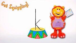Get Squiggling Letters | Letter K