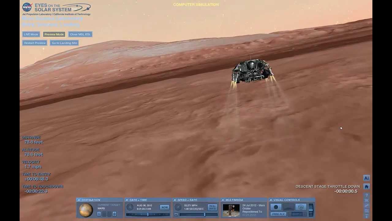mars landing simulation - photo #6