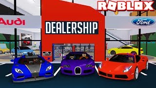 MAKING MY OWN *EXOTIC* CAR DEALERSHIP in ROBLOX! (Car Tycoon)