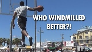 Who has the BETTER WINDMILL DUNK?! Antjuan Ball or Doug Anderson? Video
