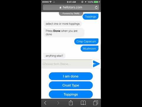 Order Pizza via chatbot