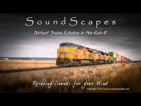 🎧 DISTANT TRAINS ECHOING IN THE RAIN III  Soothing Train Sounds with Rain & Thunder