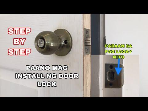 PAANO MAG INSTALL NG DOORLOCK STEP BY STEP