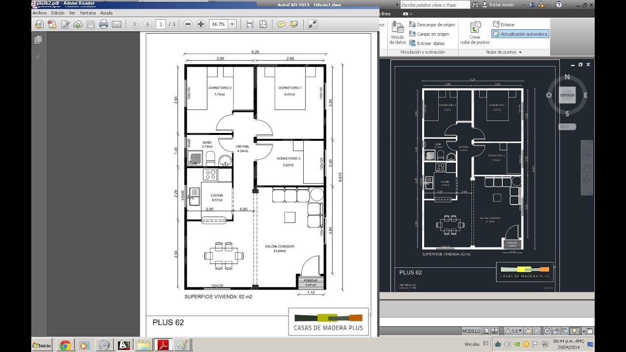 Convertir pdf a dwg en autocad 2013 youtube for Pdf a cad