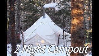 2 Nights Winter Camping in the Atuk Kanguk Hot Tent at our bushcraft campsite.