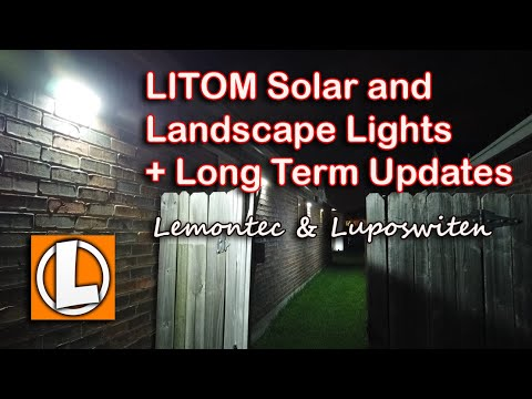 Litom Solar and Landscape Lights and Long Term Updates