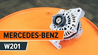Cómo reemplazar Juego de pastillas de freno MERCEDES-BENZ 190 (W201) - tutorial