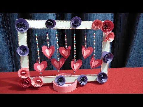 Diy Paper Heart Showpiece/ Diy Valentines Day Crafts