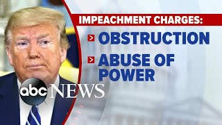 House Democrats unveil first articles of impeachment l ABC News
