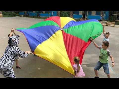 Kids Play With BIG COLOR PARACHUTE Game For Kids Funny Video By JoyJoy  Lika