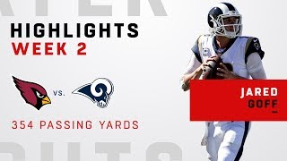 Jared Goff's 354 Passing Yards in Week 2 Blowout!