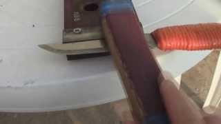 Заточка ножа до остроты бритвы из Р6М5