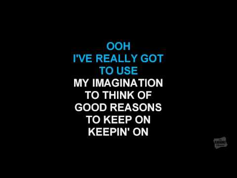 I've Got To Use My Imagination in the style of Gladys Knight & The Pips karaoke video