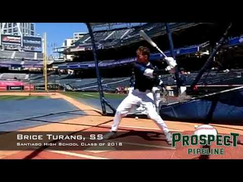 Brice Turang, SS, Santiago High  School Class of 2018, Swing Mechanics at 240 FPS