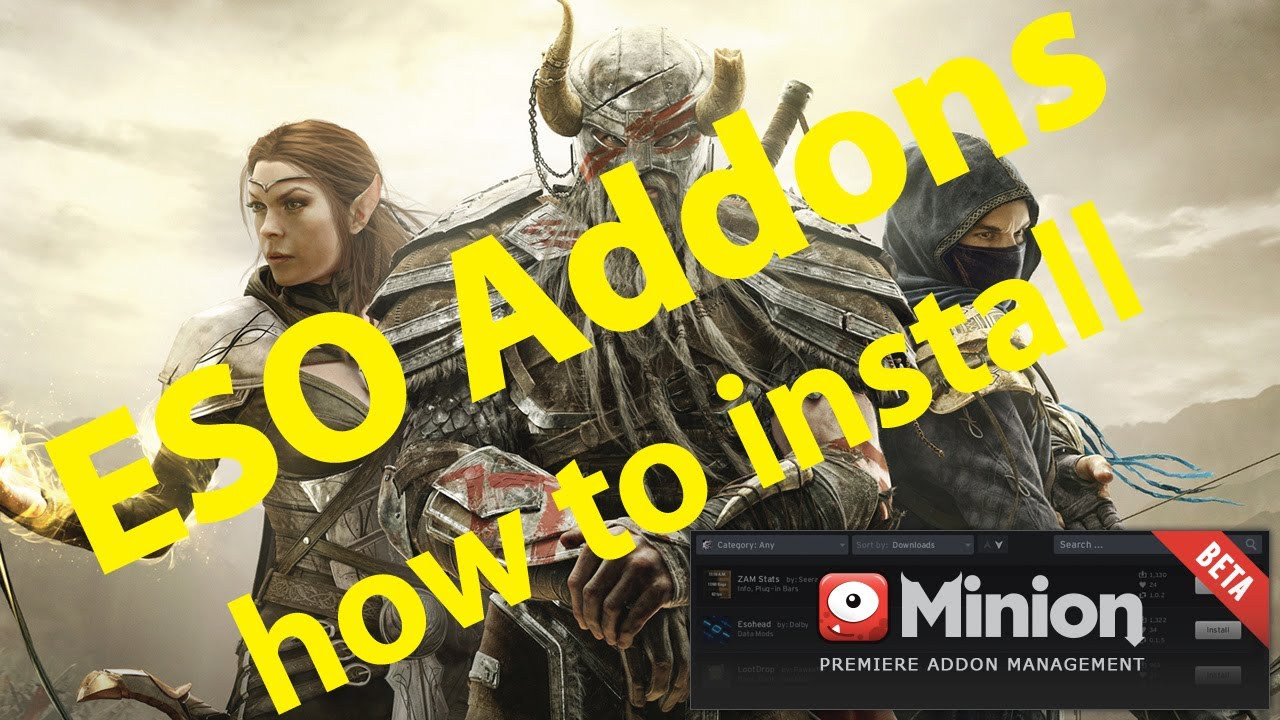how to use addons on eso