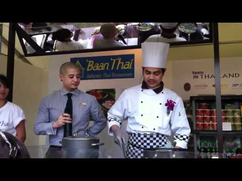 Baan Thai Restaurants Cooking Demo @ Taste of Dublin