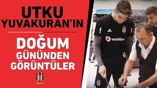 Futbolcumuz Utku Yuvakuran'ın tesislerimizde kutlanan doğum gününden görüntüler. 📹🎂🎉  #Beşiktaş
