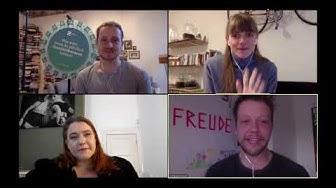 Michael Bohmeyer, Gewinnerin Judith und Tonia Merz im Talk mit Mein Grundeinkommen